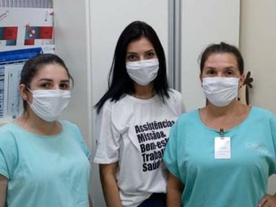 Vitrine do Bem: parceria rende 200 máscaras de tecido ao hospital