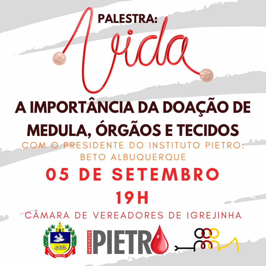 SOCIALIZAÇÃO: Câmara de Vereadores promove palestra sobre doação de medula, órgãos e tecidos