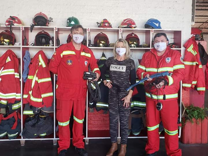 Vitrine do Bem: Família Werb faz doação aos bombeiros voluntários